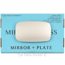 For MG TF 2002-2005 LEFT SIDE HEATED FLAT WING MIRROR GLASS PASSENGER + PLATE
