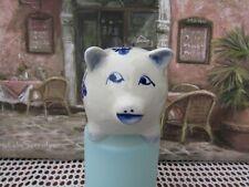 DELFT BLUE CHINA PIG MONEY BOX.....