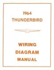 FORD 1964 Thunderbird Wiring Diagram Manual 64