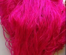 Luxury Laceweight Silk Yarn, 60g. Fuchsia Pink. For Weaving/Textiles