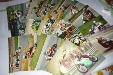 LOT OLD   POSTCARD  1970s   Motorcycle Road Racer