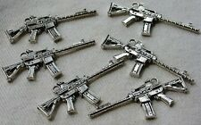 Mini ​Automatic Rifle Weapon Gun Metal Keychain Fob Lot M16 Repurpose Pendant