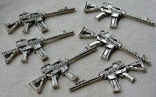 Mini Automatic Rifle Weapon Gun Metal Keychain Fob Lot M16 Repurpose Pendant