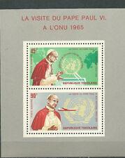TOGO Scott # C50a ** MNH Souvenir Sheet  Pope Paul VI visit ONU UN