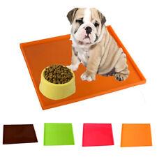 Non-Slip Mat Silicone Dog Pet Feeding Cat Bowl Mat Food Water Dish Tray Placemat