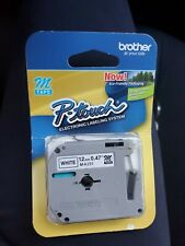 Brother M231 P Touch Label Tape 12 Black On White 31 Count