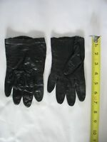 "WOMEN'S 7"" Black Leather VINTAGE driving GLOVES Sz 6 1/2"