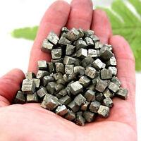 About 15-30 Pcs 100g Gravel Rare Natural Iron Pyrite Cubes Stone Pyrite Specimen