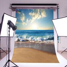 Sunny Sea Beach Vinyl Photography Backdrop Background Studio Props 3X5FT 14-354