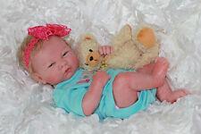ADORABLE REBORN FULL VINYL PREEMIE BERENGUER BABY GIRL MUST SEE