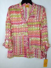 Ruby Rd. Sheer Blouse New Women's Size 12 Polyester Multi-color MSRP: $58.00