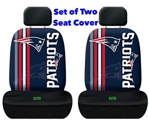 New England Patriots NFL Printed Logo Car Seat Cover-Set of Two
