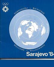 1984 Winter Olympics Guide Sarajevo Beautiful RARE!!