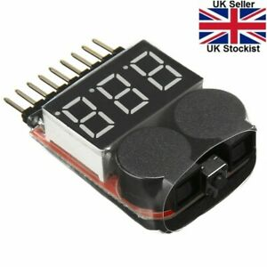 1-8S Lipo Li-ion Battery Voltage Tester Monitor Low Voltage Buzzer Alarm