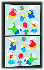 Mrs. Grossman's Vintage Easter Bunnies Playing Eggs Baskets Balloon Stickers