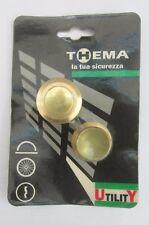 THEMA 990031 Coppia bocchetta a pavimento x aste con molla in ottone ø 18 2Pz