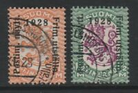 Finland - 1928, 1m & 1 1/2m Philatelic Exhibition stamps - G/U - SG 258/9