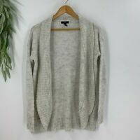 The Gap Womens Open Cardigan Sweater Size S Gray Wool Blend Shawl Collar Knit