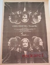 TEN YEARS AFTER Chick Churchill solo 1973 UK Poster size Press ADVERT 16x12""