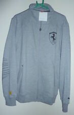 "PUMA FERRARI GREY ZIP UP JACKET LARGE 42-44""-BNWT"