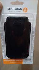 Funda Tortoise - piel / cuero autentico negro - iPhone 4 5 o Móvil tamaño medio