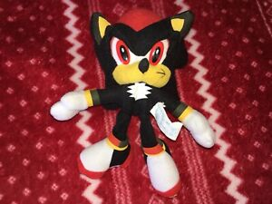 """Official 7"""" Toy Network SHADOW Sonic Plush Toy Doll USA 2006 SEGA Small"""