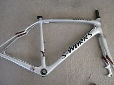 SPECIALIZED S-WORKS ROUBAIX SL4 FULL-CARBON DISC FRAMESET, SILVER, SIZE 52, VGC