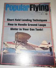 Popular Flying Magazine Short Field Landing Techniques November 1973 080514R