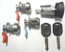 Ford Ignition Lock Cylinder + 3 Door Lock Cylinder W/2 Transponder Chipped Keys