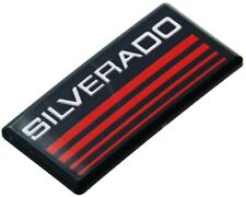 1x Cab Emblems 3d Badge Side Roof Pillar Decal Plate For Chevy Silverado Red