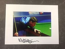 An 8 x 6 inch mount with photo signed by Snooker Player Matthew Stevens. (2).