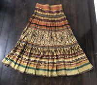 British India Adventurer Skirt Gypsy Long Tie Dye Size 7 Boho