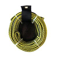 Riders Inc 2 Person Water Ski Biscuit Inflatable Tow Tube Rope Yellow