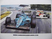 MICHAEL TURNER CARD FORMULA 1 GP : CAPELLI / MARCH & SENNA / McLAREN HONDA F1