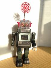 TELEVISION SPACEMAN 1960's ROBOT TOY + BOX MADE IN JAPAN BY ALPS MINT CONDITION
