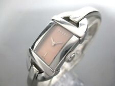 Auth GUCCI 6800L Silver Beige Stainless Steel Women's Wrist Watch 0057303