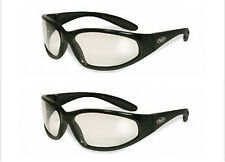 2 Hercules Clear Safety Lens Glasses Sunglasses Motorcycle Cycling Ski Sports UV