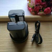 2X Battery+ USB Dual Charger NP-F550 NP-F330 For YONGNUO YN360 YN600 YN900 YN300