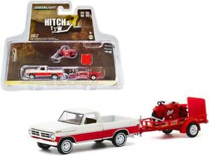 Ford F-100 Pickup with Trailer & 1920 Indian Scout Motorcycle  - 1/64
