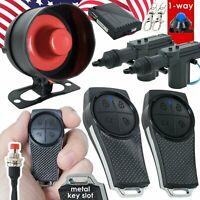 Gravity GSX 1 Way Keyless Entry Car Alarm System w/ 2 Remotes + 2 Car Door Locks