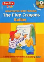 Children story book and picture dictionary Italian / English -The Five Crayons