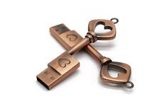 8GB 512GB Vintage Metal Copper Key Pendrive Usb Flash Drive Memory Stick Gifts