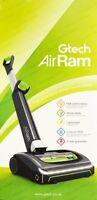 GTech Air Ram MK2 Cordless Upright Bagless Vacuum Cleaner AR29 G-TECH