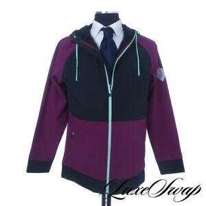 LNWOT Spyder F19 Purple Black Mint Green Trim Fleece Lined Hooded Coat M NR #3