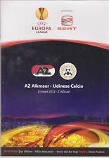 Programme / Programma AZ Alkmaar v Udinese Calcio 08-03-2012 UEFA Europa League