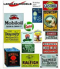 Workshop Ads Small Paper Copy Enamel Signs SMF28n Colour OO Scale Models Decals
