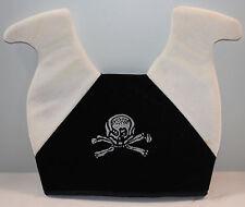 Jester Hat Skull Bones Halloween Black White