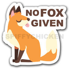 No Fox Given Funny Pun Decal Sticker