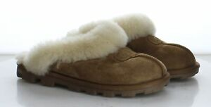 O22 MSRP $120 Women's Size 7 UGG Coquette Brown Suede Clog Slippers