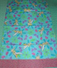 Single Handmade Tinker Bell Pillow Case 20.75 Inches Wide X 31 Inches Long New